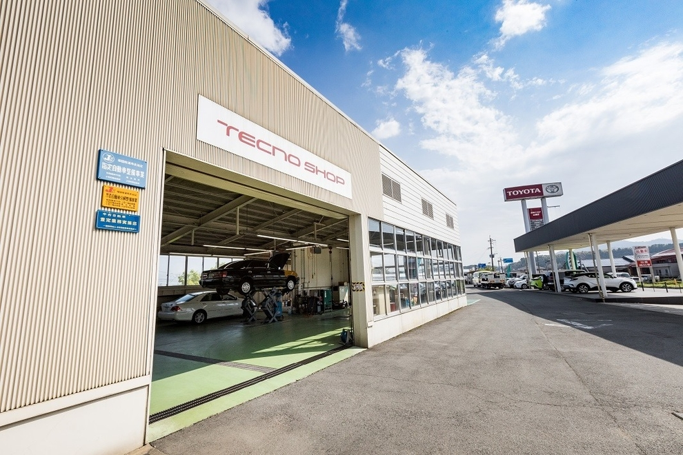 山鹿店の整備工場