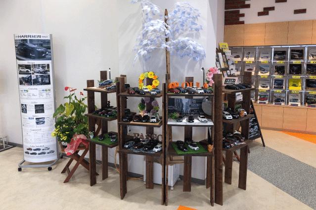郡山店店内画像‗ミニカー装飾